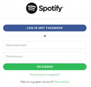 Inloggen   Spotify