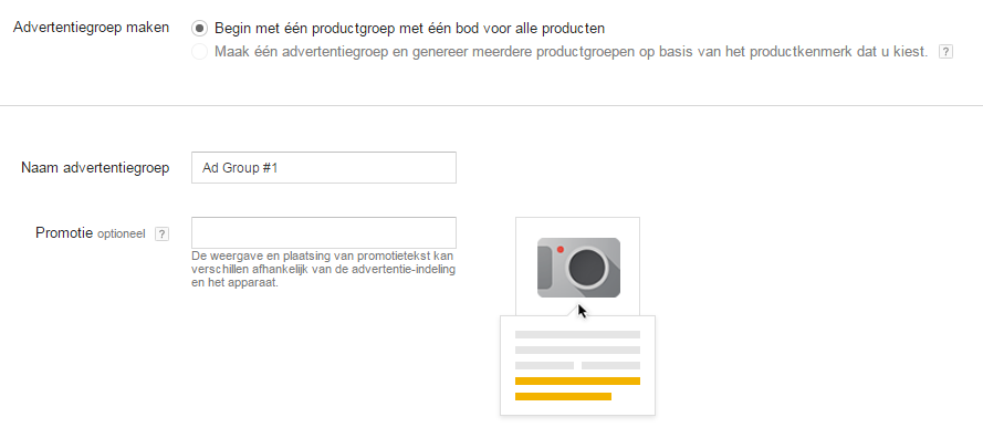 Google Shopping opzetten in Adwords 10 Advertentietekst