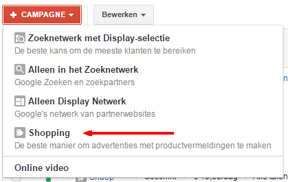 Google Shopping opzetten in Adwords 2