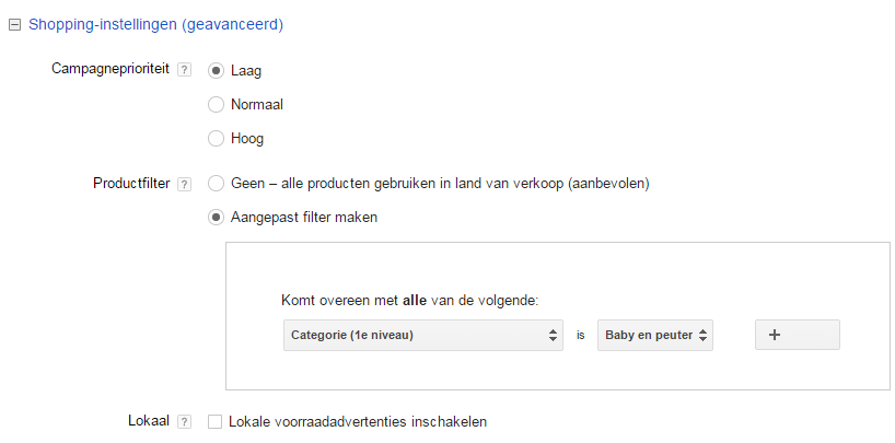 Google Shopping opzetten in Adwords 3 Geavanceerd