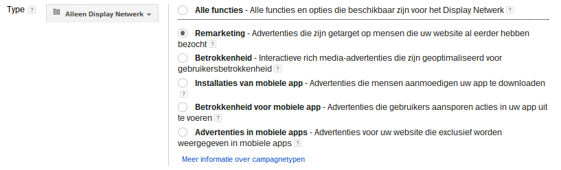 Google Retargeting Adwords Display-netwerk