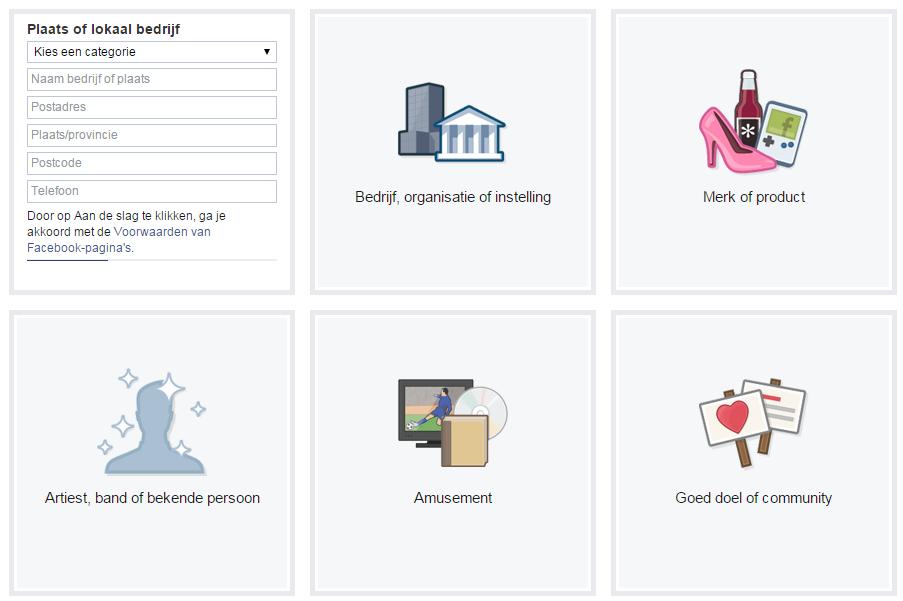 Informatie over Facebook-bedrijfspagina invullen