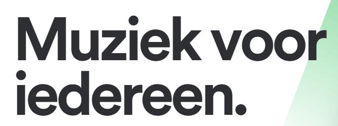 Landingspagina headline Spotify