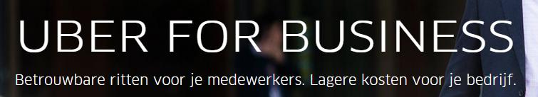 Landingspagina headline Uber
