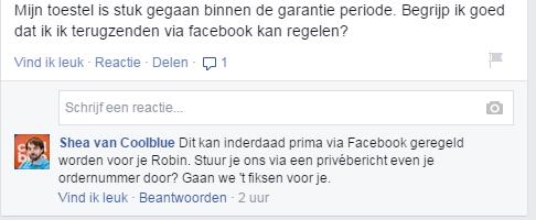 Meer likes met klantenservice via Facebook bedrijfspagina