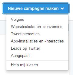 Nieuwe Twitter Retargeting Campagne