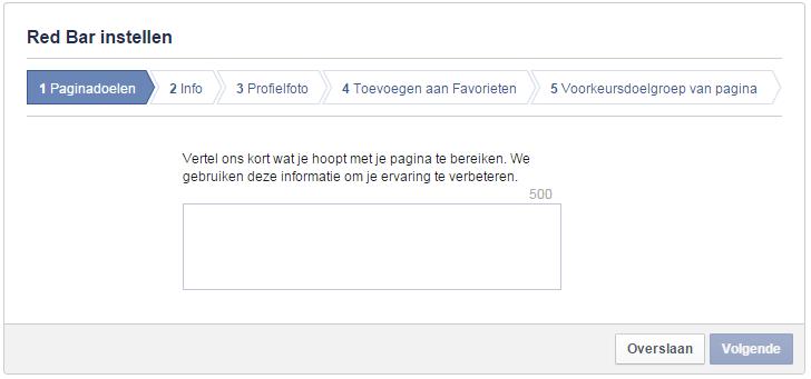 Paginadoel voor Facebook-bedrijfspagina instellen