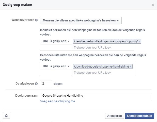Voorbeeld Google Shopping Handleiding