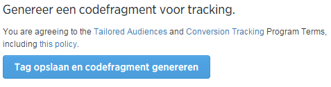 Websitetag maken   Twitter Ads