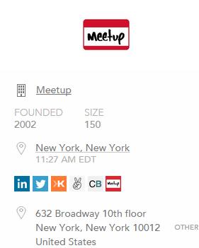 Data verzamelen van Meetup met FullContact