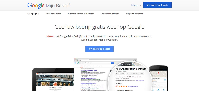 Google Mijn Bedrijf aanmelden