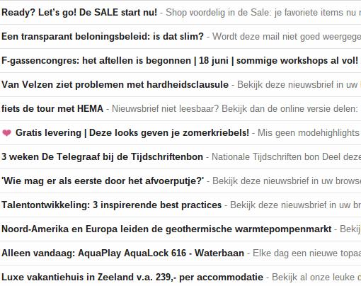 Voorbeelden onderwerpen e-mailmarketing