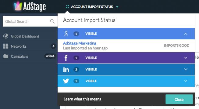 Adwords campagnes importeren met Adstage