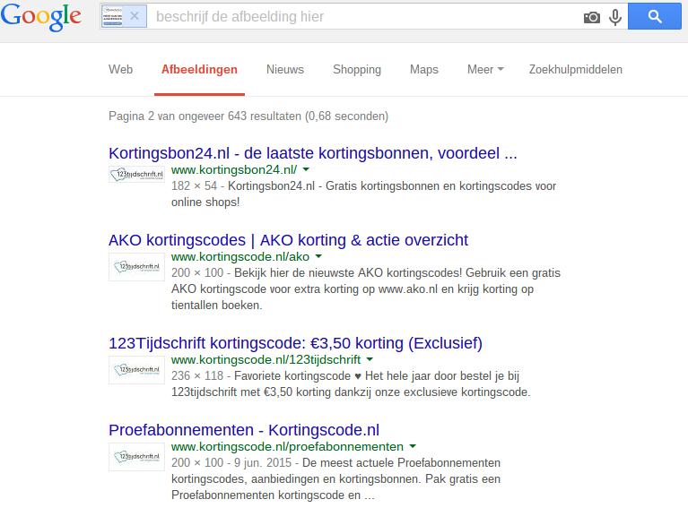 Meer affiliates vinden dankzij Google Image Search