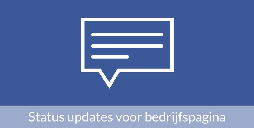 De juiste status updates voor de Facebook bedrijfspagina