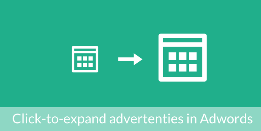 Meer resultaat met click-to-expand advertenties in Adwords