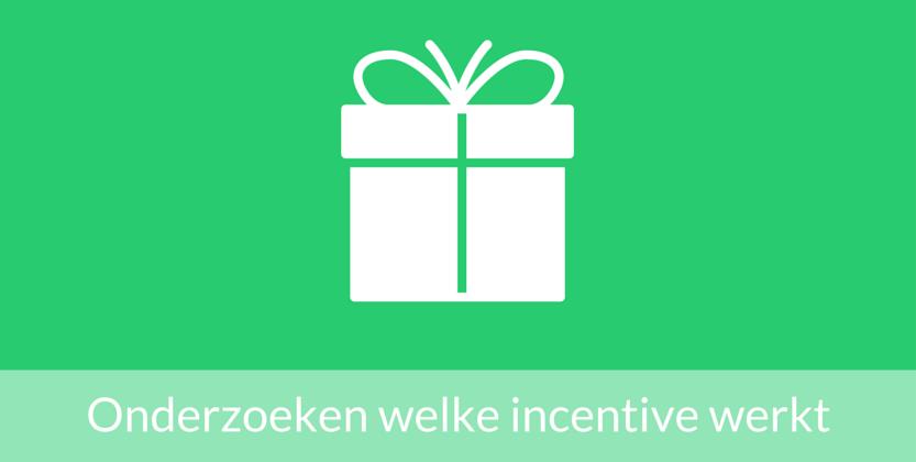 Data gebruiken om te onderzoeken welke incentive het beste werkt